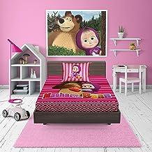 Masha & Bear 2Pieces Bed Sheet Set - Single Size, Multi Color, Cotton