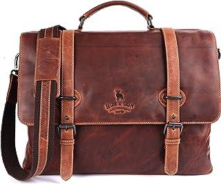 HIDE & SKIN Men's Leather Laptop Messenger Bag