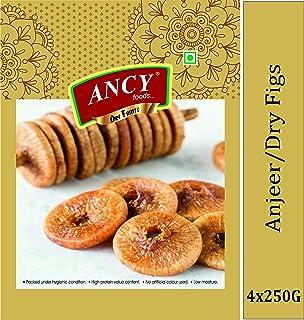 Ancy Dry Fruits Premium Dried Afghani Anjeer 1kg (4x250g)
