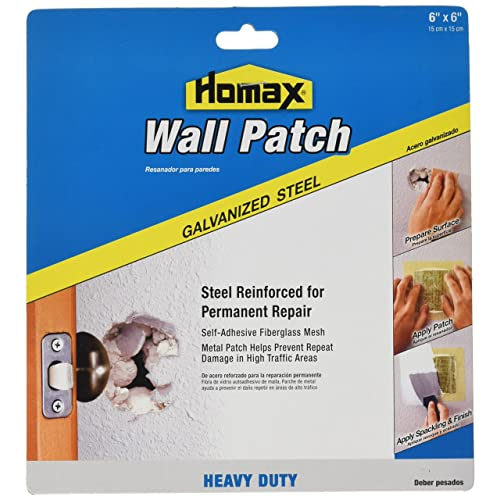 Homax Group Inc Homax Group 5506 Heavy Duty Self Adhesive Wall Repair Patch, x 6-Inch, 6 x 6