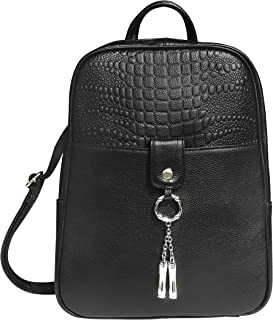 Roma Leathers Gun Concealment Backpack - Cowhide Leather, YKK Lockable Zipper, Adjustable Shoulder Straps