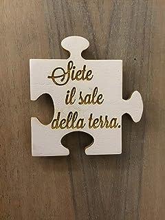 Bomboniera puzzle in legno