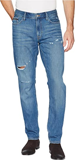Slim Fit Jeans in Dog Patch Blue Destruct Wash