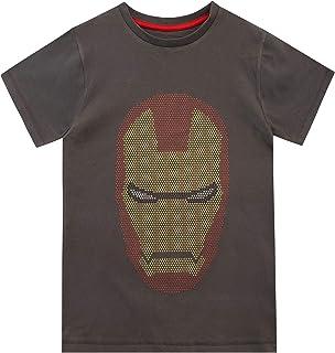 Marvel Camiseta de Manga Corta para niños Iron Man