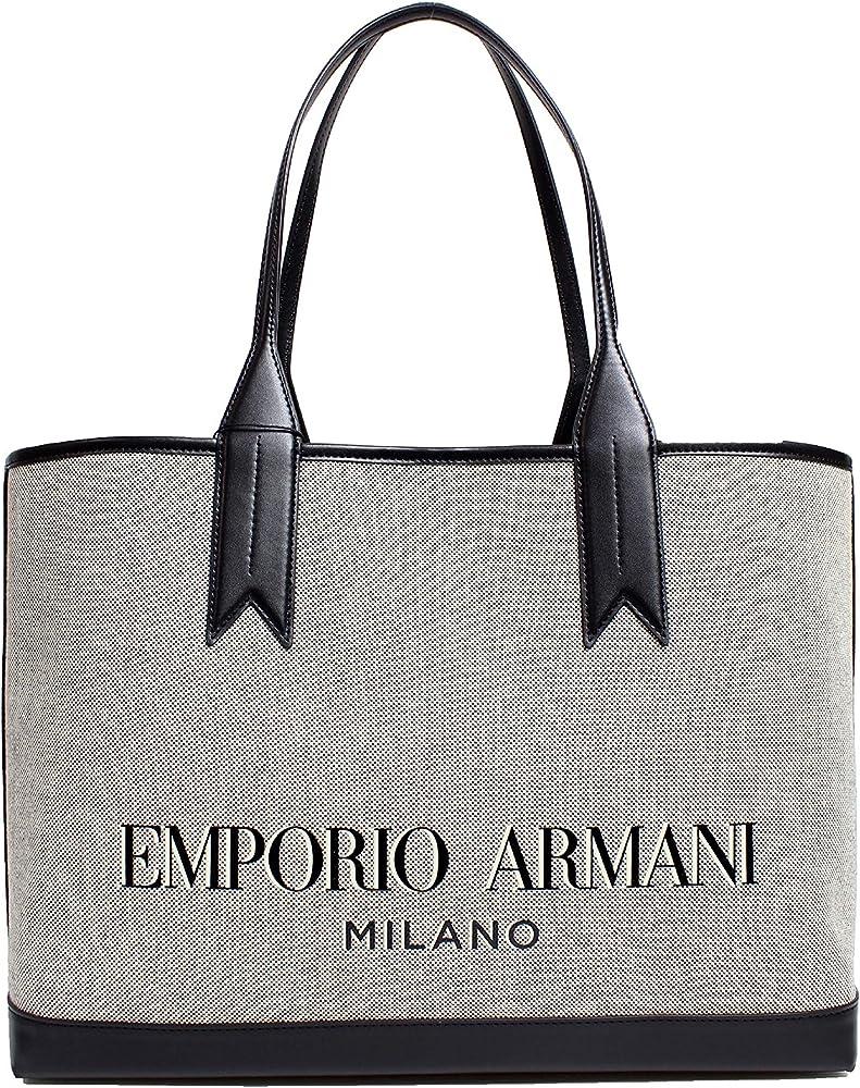 Emporio armani, borsa da donna, in misto cotone/ecopelle Y3D081Y266A