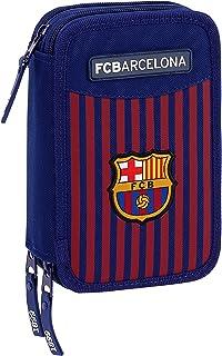 FC Barcelona plumier Triple, Estuche con 41 Piezas, niño.