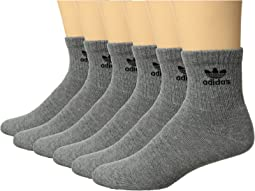 Originals Trefoil Quarter Sock 6-Pack
