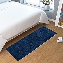 AEROHAVEN Modern Bath Mat (Navy Blue, Microfiber, 40 cm x 120 cm)