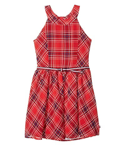Tommy Hilfiger Kids Sleeveless Plaid Dress (Big Kids) (Plaid Red) Girl