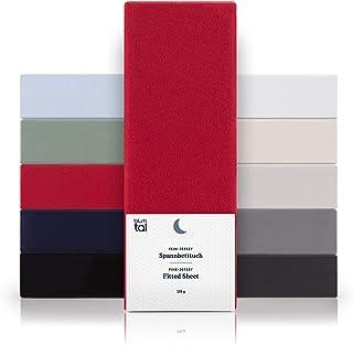 Blumtal - Drap Housse 90x200 Coton (x1) - Drap Housse Jersey 90x200 cm - 100% Coton - Jusqu'à 15cm De Hauteur - Rouge