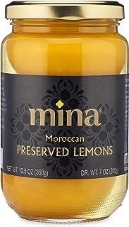 Mina Preserved Lemons, Authentic Moroccan Preserved Beldi Lemons, 12.5 oz (350 grams), All Natural, No Preservatives