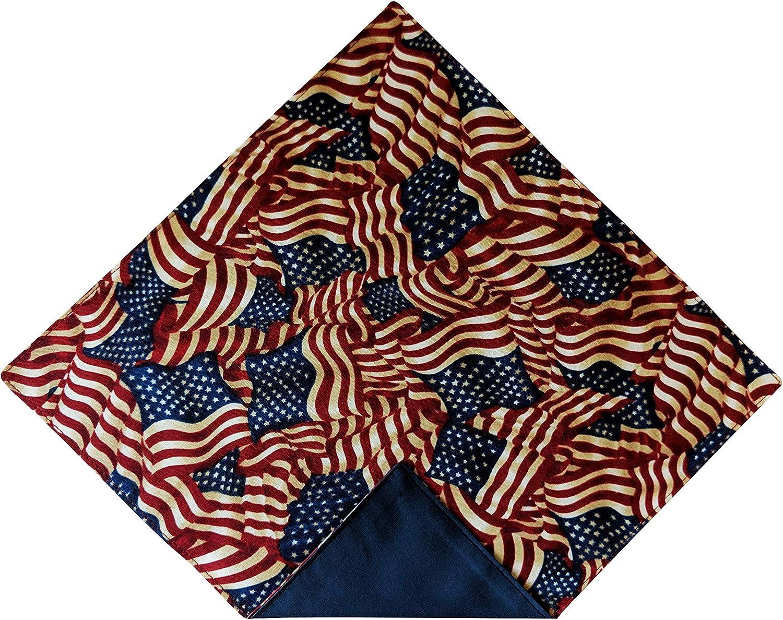 Holiday Bow Ties Mens Handkerchief Pocket Square Vintage American Flag