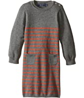 Toobydoo - Orange Stripe Sweater Knit Dress (Infant/Toddler)