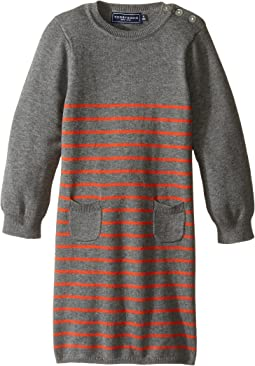 Orange Stripe Sweater Knit Dress (Infant/Toddler)