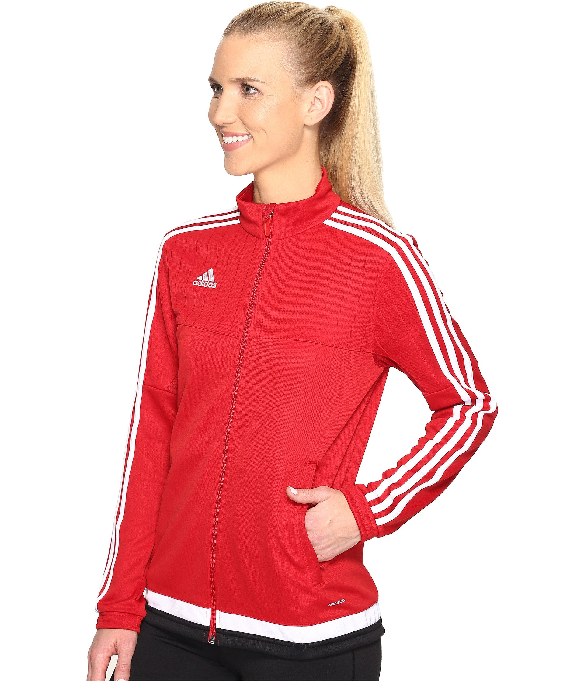 adidas originals tiro 15 training jacket in power red. Black Bedroom Furniture Sets. Home Design Ideas