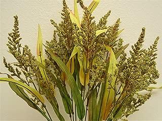 Phoenix Silk Green Heather Bush Artificial Foam Flowers 22