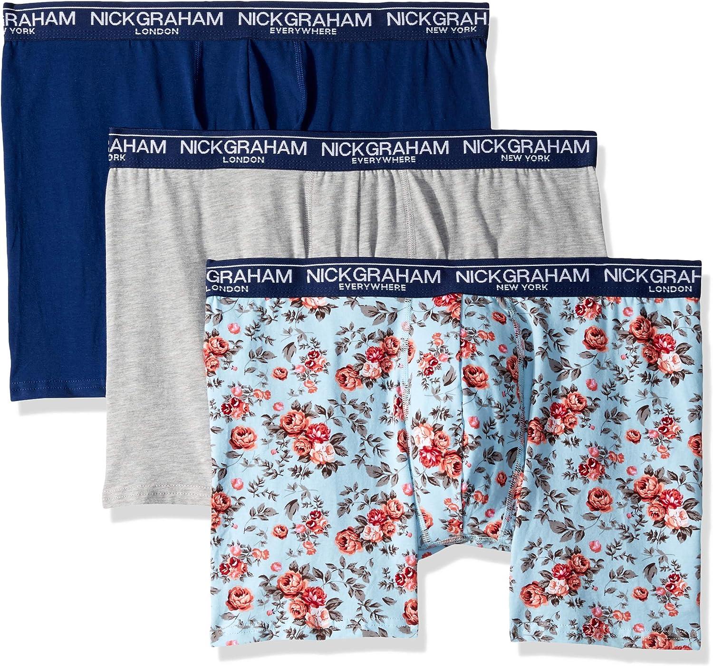 Nick Graham Men's Performance Cotton Stretch Boxer Briefs (3 Pack)