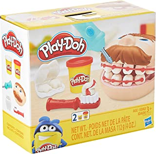 Play-Doh Mini Doctor Drill 'n Fill Dentist Toy for Kids 3 Years and Up with 2 Non-Toxic colours
