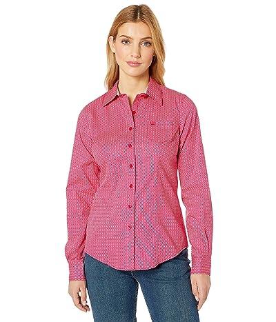 Cinch Long Sleeve Print (Pink) Women