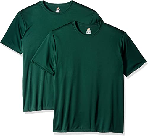 Hanes Hommes's manche courte Cooldri T-Shirt (Pack of 2), Deep Forest, 2XL