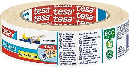 tesa Masking Tape Universal EcoLogo - Schilders Tape, 4 dagen residuvrije verwijdering, zonder oplosmiddel - smal, 50 m x ...