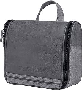 25621ae12e Hanging Toiletry Bag for Men VANCASE Vintage Leather Shaving Dopp Kit  Medium Waterproof Travel Bathroom Bags