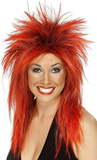 red 80s wig