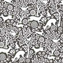 NuWallpaper NUS3146 Charcoal Merriment Peel & Stick Peel and Stick Wallpaper, Grey