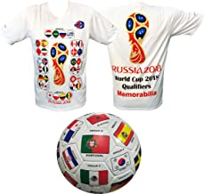 Soccer Jersey & Size 5 Soccer Ball with 2018 Qualifiers Categorized with Groups Gift for Soccer Fans