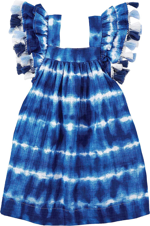 Mud Pie Baby Girls' Dye Luxury Dress 70% OFF Outlet Tie Tassel