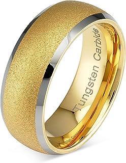 100S مجوهرات التنجستن خواتم للرجال النساء الذهب زفاف الفرقة الرمال الفضة الحافة أحجام 6-16