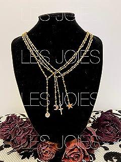 Collana catenina rosario in ottone con perline colore ORO