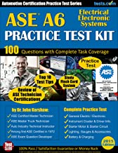 ASE A6 Practice Test Kit - Automotive Certification Practice Test Series: Electrical Electronic Systems Practice Exam; Flash Card Study System; Test Tips
