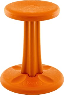 Kore Wobble Chair - Flexible Seating Stool for Classroom, Elementary School, ADD/ADHD - Made in USA - Junior- Age 8-9, Grade 3-4, Orange (16in)