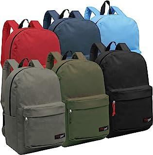 Wholesale 16.5 Inch Backpacks - Case of 24 Multicolored MGgear Bulk School Bags