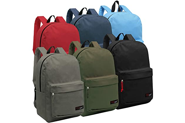 82afa64fb237 Wholesale 16.5 Inch Backpacks - Case of 24 Multicolored MGgear Bulk School  Bags