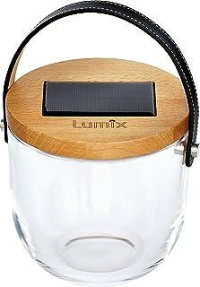 Krinner Lumix 22500Deco Glass–Lampada Solare/Lanterna con porta USB, Vetro, 0.16W, Trasparente, 14.5x 15cm