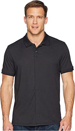 Magna Ready Classic Fit Ribbed Collar Knit Polo