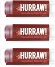 product image for Hurraw! Black Cherry Tinted Lip Balm, 3 Pack: Organic, Certified Vegan, Cruelty and Gluten Free. Non-GMO, 100% Natural Ingredients. Bee, Shea, Soy and Palm Free. Made in USA