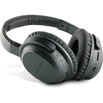 Golzer BANC-50 Bluetooth 4.1 Active Noise Cancelling Wireless Wired OverEar Headphones w/apt-x