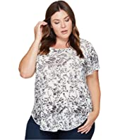 Lucky Brand - Plus Size Floral Tee