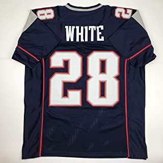 Unsigned James White New England Blue Custom Stitched Football Jersey Size XL New No Brands/Logos