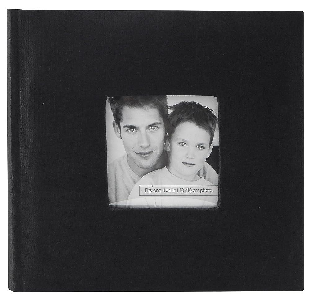 MCS Fashion Fabric 200 Pocket Album, Black (846510)