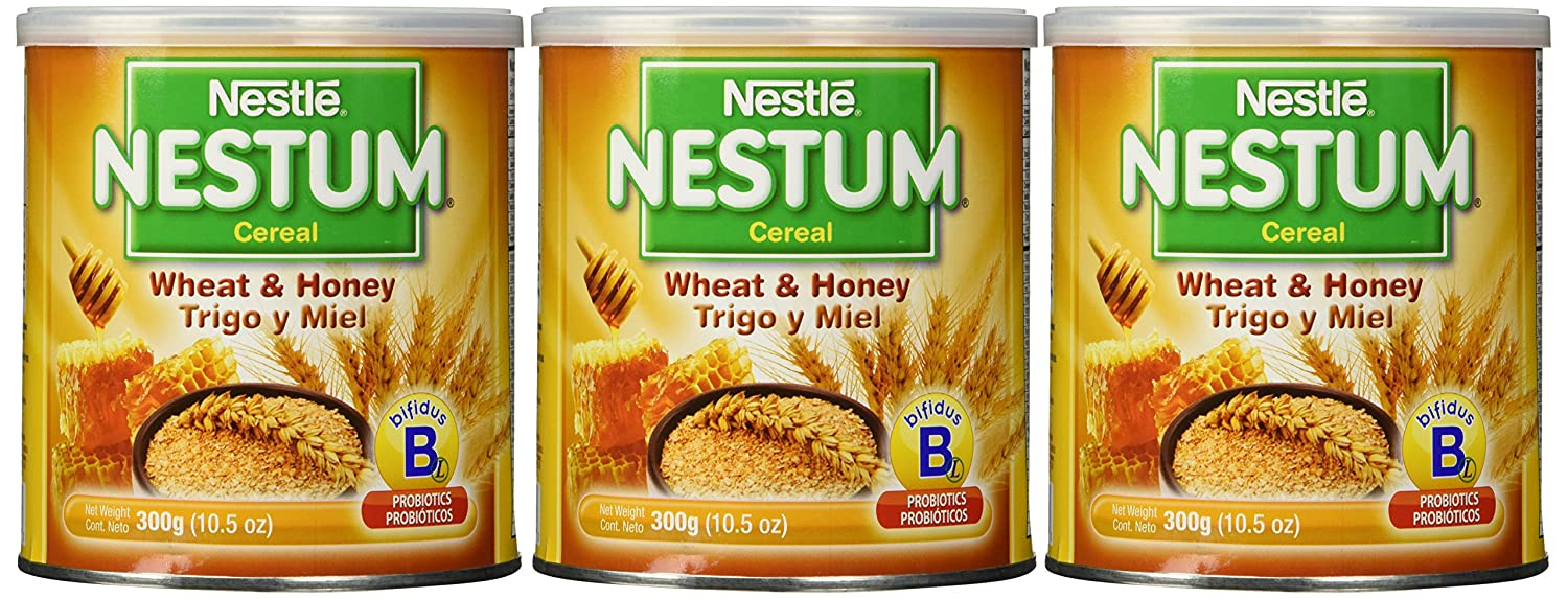 Nestle Be super welcome Nestum Baby Cereal Wheat Honey Pack OZ 3 Max 73% OFF 10.5 of