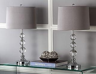 Safavieh Lighting Collection Keeva Crystal Ball 27-inch Table Lamp (Set of 2)