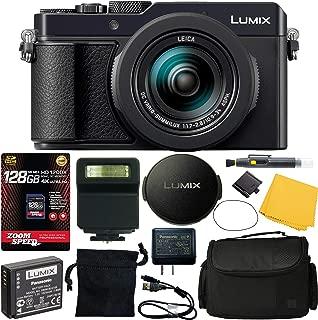 Panasonic Lumix DC-LX100 II Digital Camera (Black) (DC-LX100M2) + 128GB 4K AOM Pro Kit: International Version (1 Year AOM Warranty)