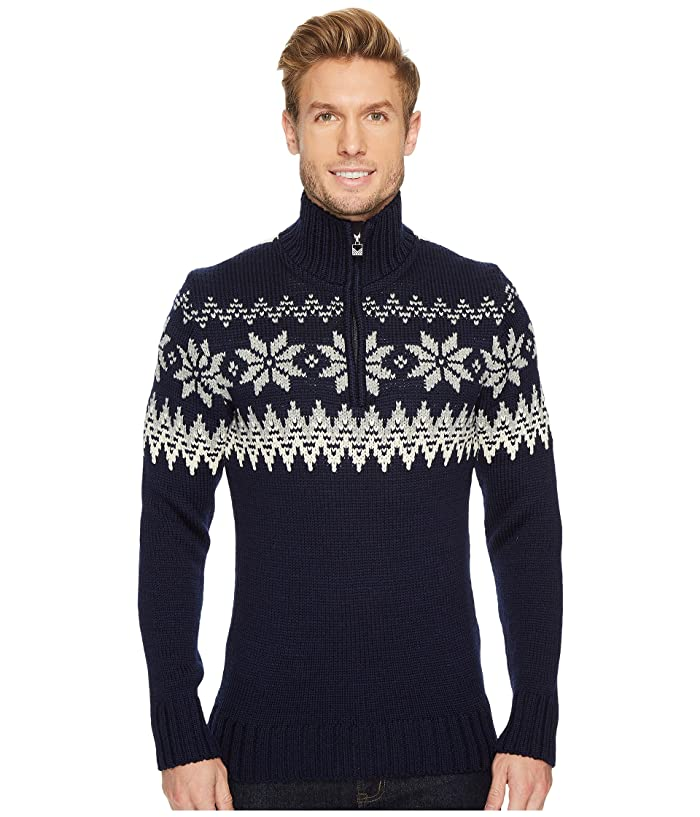 Men's Vintage Sweaters – 1920s to 1960s Retro Jumpers Dale of Norway Myking Sweater C-NavyOff-WhiteLight Charcoal Mens Sweater $399.00 AT vintagedancer.com