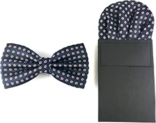 good. Designs Set Tied Bow Tie With Handkerchief, Red, Blue or Black