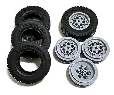 LEGO Tire Ø62.4 x 20 w/ Rim Ø 43,2 X 18 - Pack of 4 each (86652) (32019 / 75999)