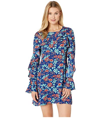 Rock and Roll Cowgirl Long Sleeve Dress D4-9636 (Navy) Women